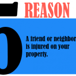 A friend or neighbor is injured on your property