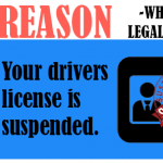 Your drivers license is suspended.