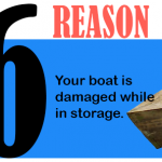 Your boat is damaged while in storage