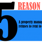 A property manager refuses to rent to you.