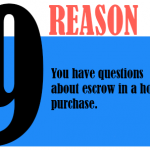 You have questions about escrow in a home purchase.