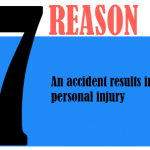 An accident results in a personal injury.