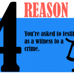 You're asked to testify as a witness to a crime.