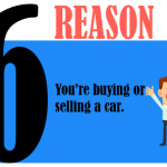 You're buying or selling a car.