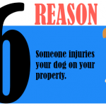 Someone injuries your dog on your dog on your property.