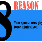 Your spouse uses physical force against you.